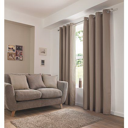 Mink Eyelet Curtains | Curtains | George at ASDA