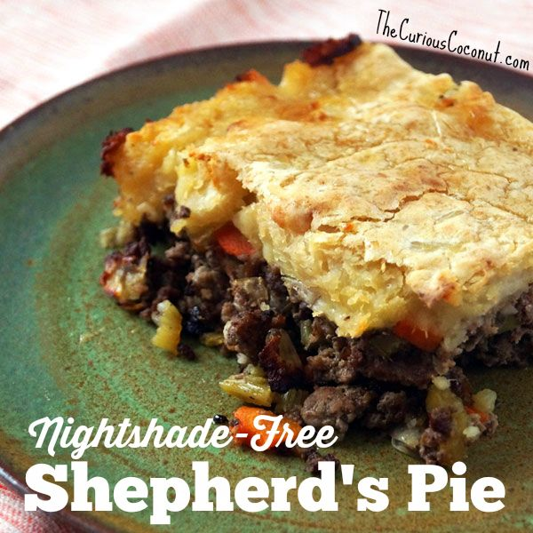 ... dairy-free shepherd's pie #autoimmuneprotocol #nightshadefree #paleo