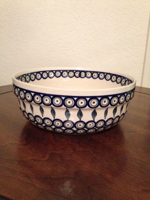 Polish Pottery Bowl by MimisMiniMarketplace on Etsy, $22.00