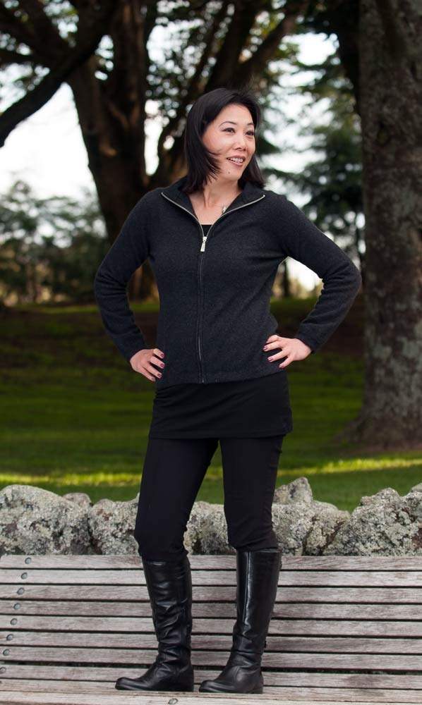 A lovely possum merino Charcoal Grey modern jacket. This is warm, soft and comfortable. Dress this up for work or down for the weekend. NZ$229