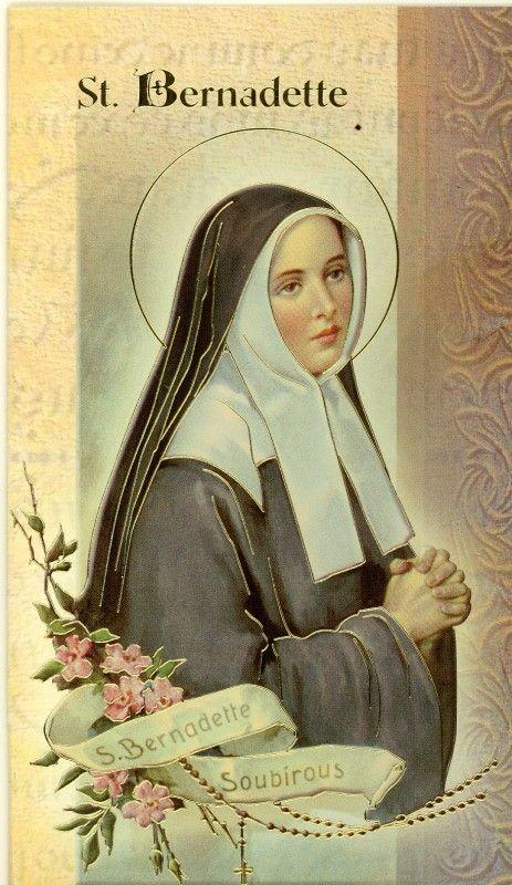 saint bernadette | St. Bernadette Biography Card (500-595) (F5-410)