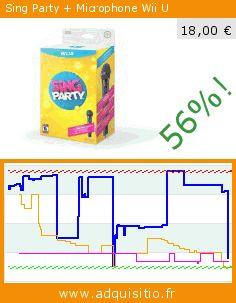 Sing Party + Microphone Wii U (Jeu vidéo). Réduction de 56%! Prix actuel 18,00 €, l'ancien prix était de 40,92 €. https://www.adquisitio.fr/nintendo/sing-party-micro
