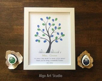 Teachers Gift Fingerprint Tree Teachers Plant Seeds Quote