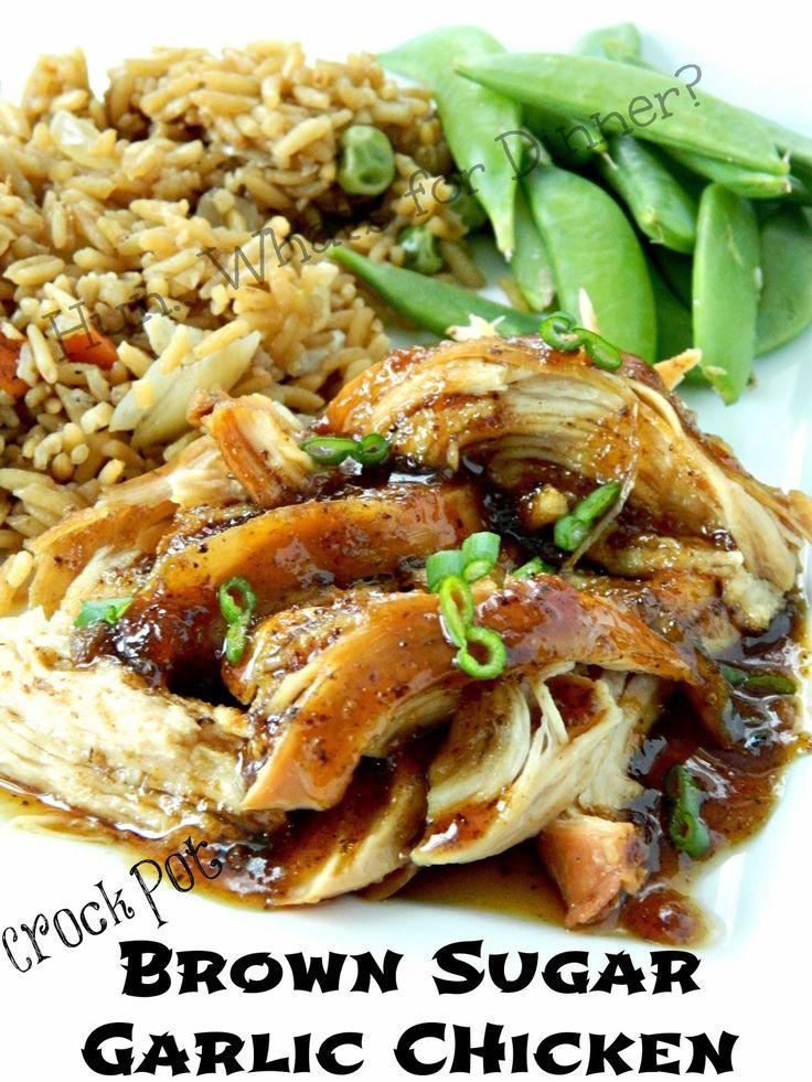 Crock Pot Brown Sugar Garlic Chicken