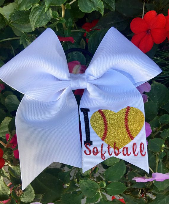 Hey, I found this really awesome Etsy listing at https://www.etsy.com/listing/264140385/softball-hair-bows-i-love-softball-hair