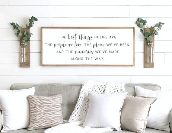 Inspirational Signs The Best Things In Life Sign Home Etsy In 2020 Scripture Wall Decor Home Decor Signs Bible Verse Signs