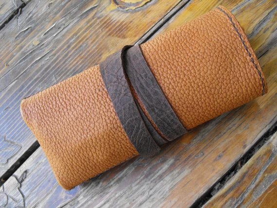 Leather Watch Roll watchband holder leather watch bands