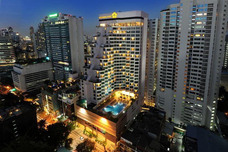 Vista esterna del Rembrandt Hotel a Bangkok