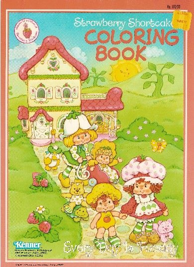 Vintage Strawberry Shortcake Coloring Books to print and color! @ Toy-Addict.com