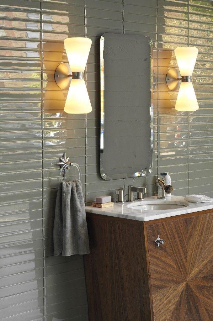 21 best 1950s pink bathroom images on pinterest bathroom - Contemporary bathroom chandeliers ...