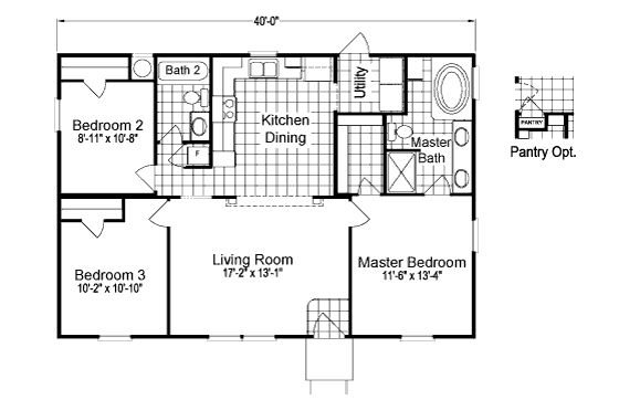 Heritage Home I Floorplan For Palm Harbor Homes