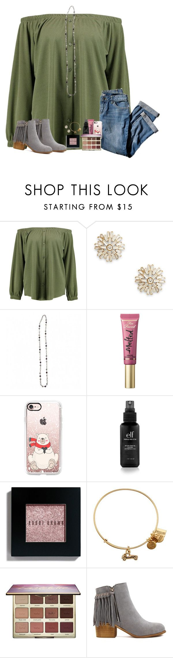 """do y'all have any song recommendations?"" by hailstails ❤ liked on Polyvore featuring Boohoo, Sole Society, J.Jill, Too Faced Cosmetics, Casetify, Bobbi Brown Cosmetics, Alex and Ani and tarte"