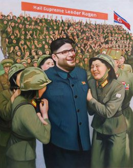 Kim Jung Seth   Inspired by traditional propaganda posters, This unique 70*90cm one of a kind masterpiece is a must for fan of his eternal greatness, Sacred Leader Rogen.