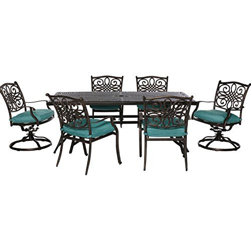 Hanover TRADDN7PCSWBLU 7 Piece Traditions Outdoor Dining Set -- Locate the offer simply by clicking the VISIT button