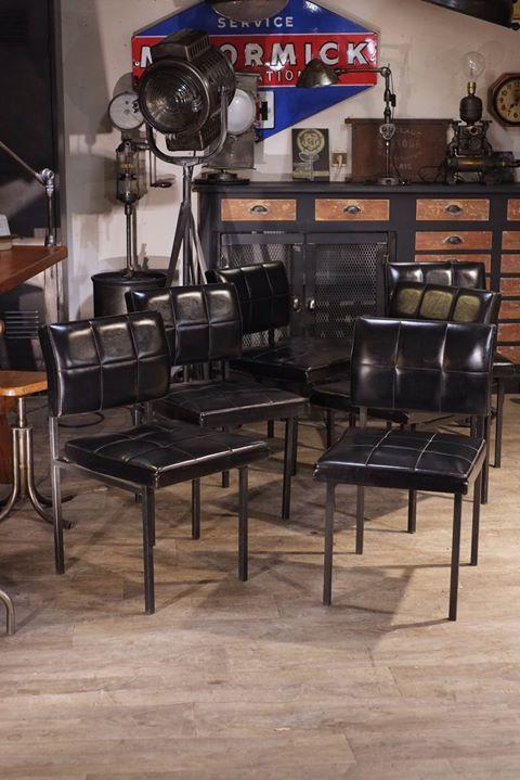 6 Fauteuils Ancien En Skai Noir Vintage Plus D Info Sur Https Ift Tt 1uc8qai Deco Design Antiquitesdesign Loft Usin Avec Images Meuble Meuble Meubles Industriels