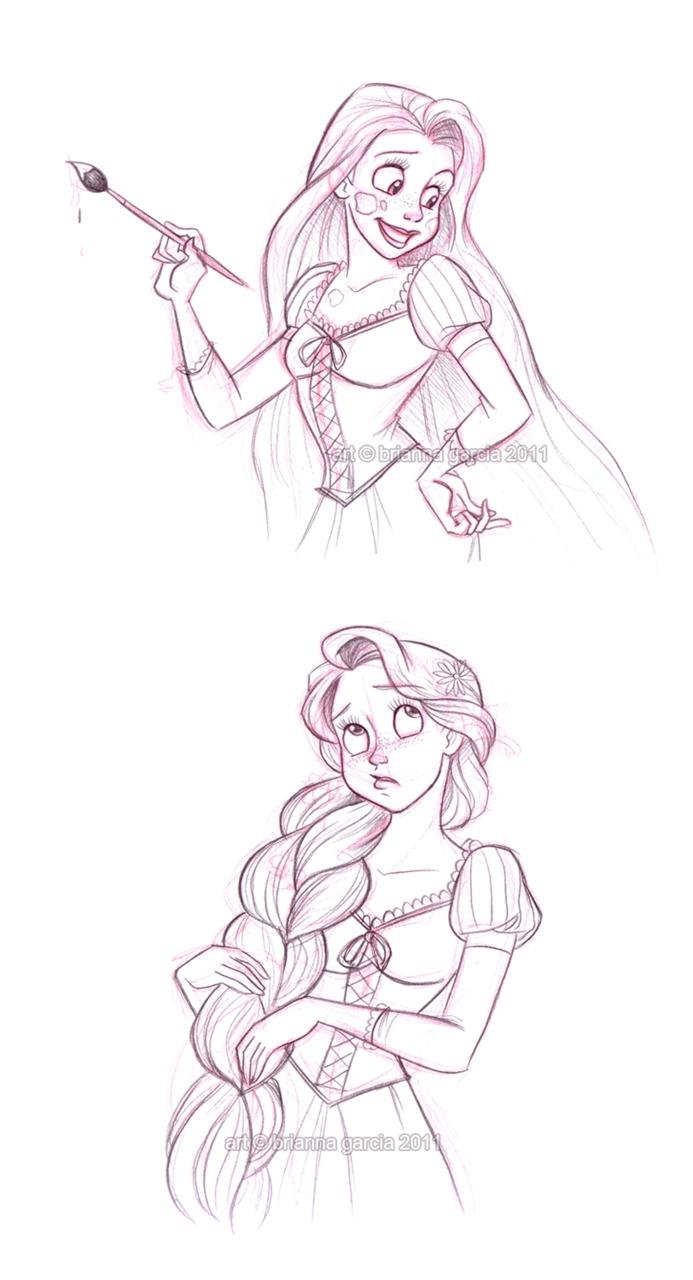 rapunzel sketches♡