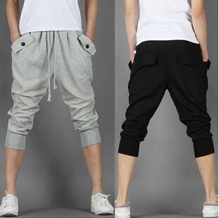 Дешевое 2015 новых мужская одежда мужчины спортивные семь штанов учебные брюки мальчик брюки спортивные большой размер брюки брюки, Купить Качество Шорты непосредственно из китайских фирмах-поставщиках:   2015 Новый мужская одежда мужской спорт семь брюки