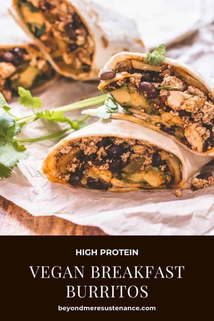 High Protein Vegan Breakfast Burritos Recipe Vegan Breakfast High Protein Vegan Breakfast Vegetarian Recipes