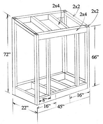Lean To Shed Plans | ... lean-to garden tool shed shown is easy to build and takes the clutter