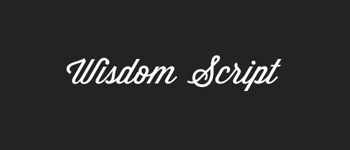 9 Sweet Free Script Fonts for Your Designs | WISDOM SCRIPT