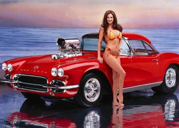 muscle car girls chevrolet corvette 2012 Playboy Car of the Year