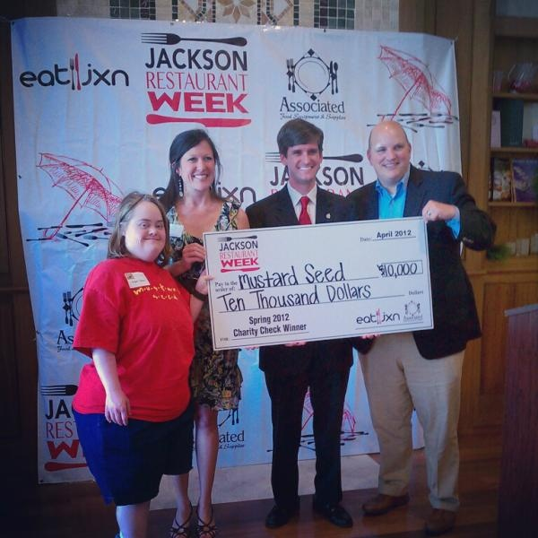 Congratulations to The Mustard Seed Winner of the Jxn Restaurant Week  $10,000 Charity Check! Restaurants Jackson MsRestaurant ...