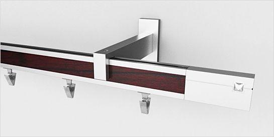 Karnisz apartamentowy AVENO 31x13mm Aster Chrom mat - biały