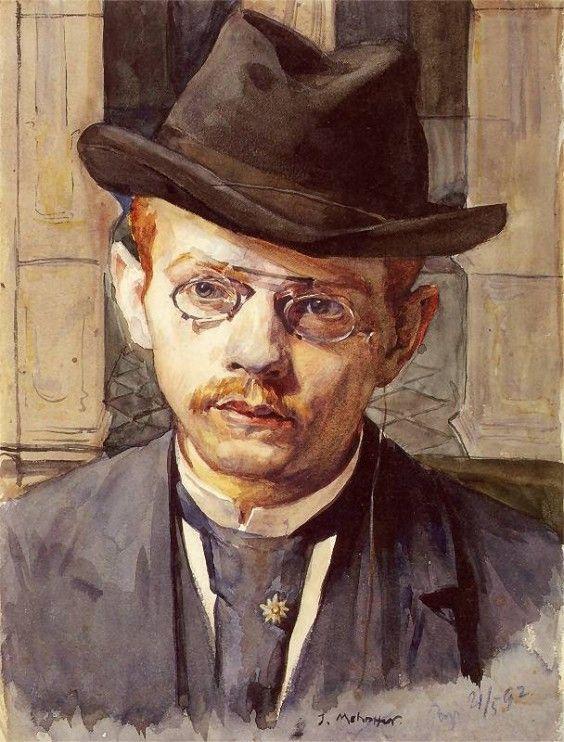 Autoportret - Józef Mehoffer (Polish, 1869-1946)