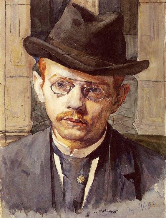 Józef Mehoffer (Polish, 1869-1946)  - Autoportret