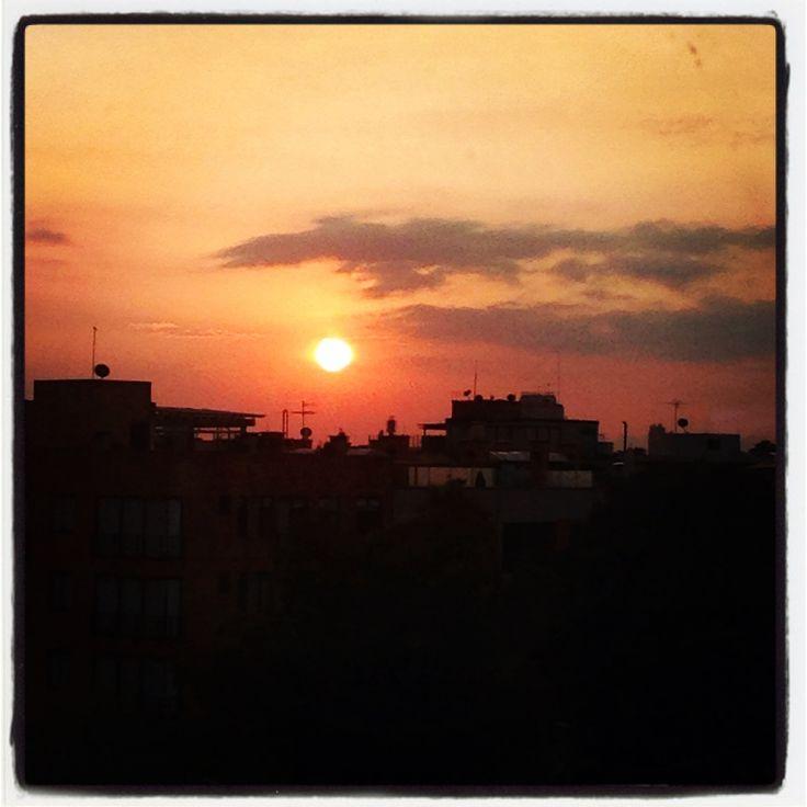 Bogotá sunset view