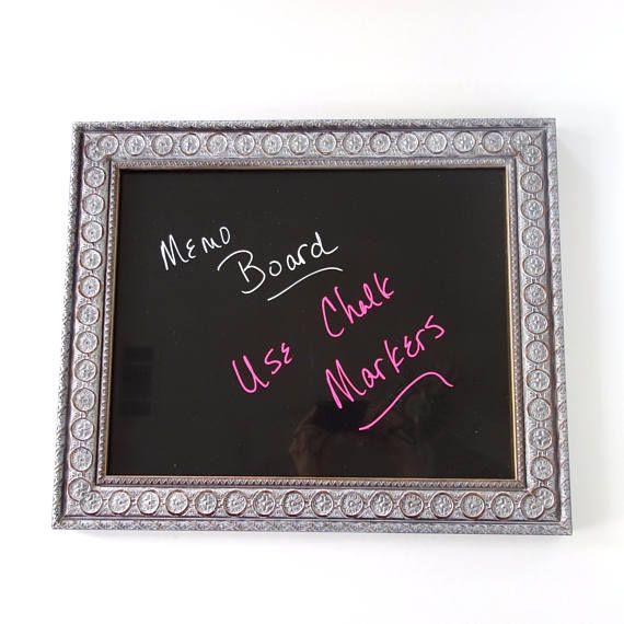 Framed Dry Erase Message Board Chalk Marker Board Home