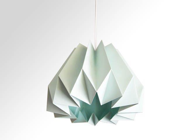 Citrouille Origami papier lampe / abat-jour - vert à la menthe by TwReborn1 on Etsy
