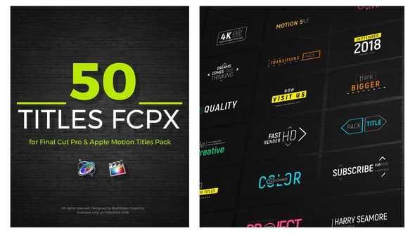 FCPX Titles 50 ( animated, apple motion, clean, corporate