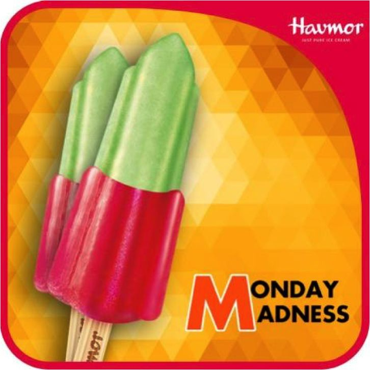 Can't escape the weekly #MondayMadness? Take a chill pill with the cool Rocket Candy by Havmor Ice Cream.