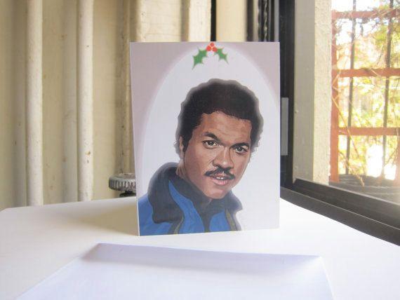 Star Wars Christmas Cards - Lando'ed on the Nice List. $4.00, via Etsy.