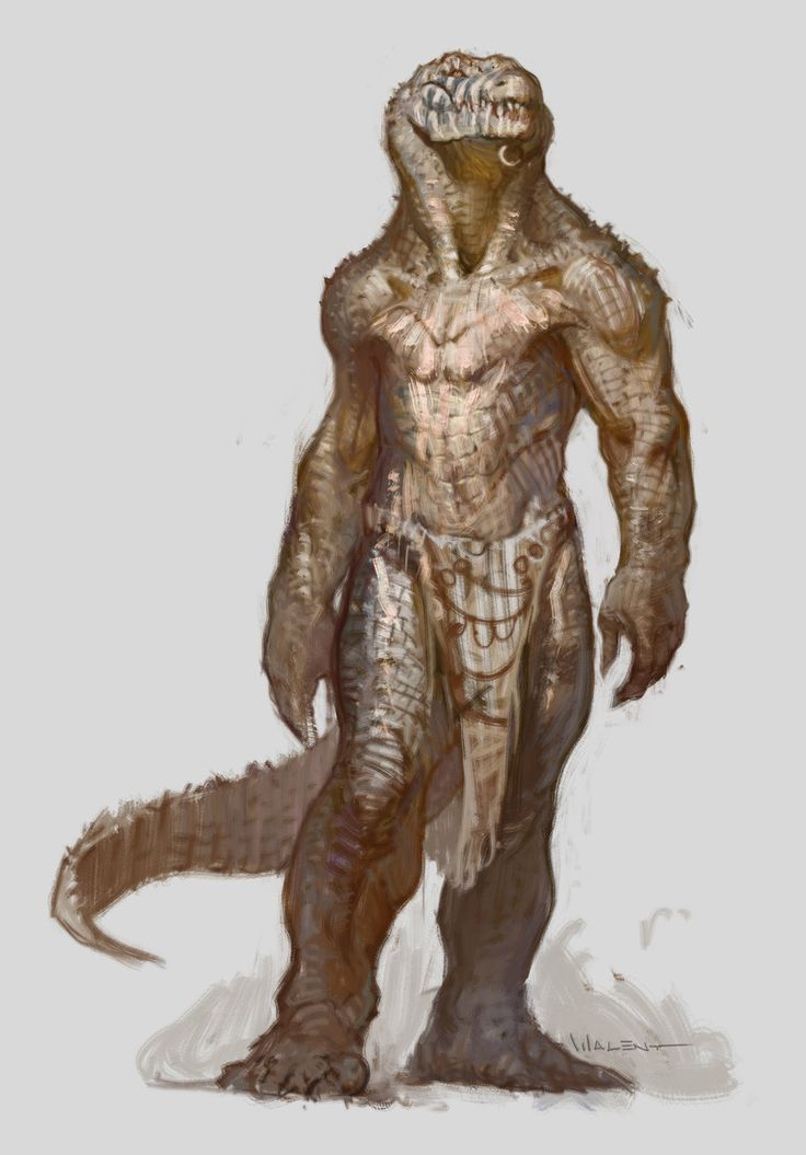 Crokodan Male by vladgheneli crocodile lizardman fighter barbarian savage monster beast creature animal armor clothes clothing fashion | Create your own roleplaying game material w/ RPG Bard: www.rpgbard.com | Writing inspiration for Dungeons and Dragons DND D&D Pathfinder PFRPG Warhammer 40k Star Wars Shadowrun Call of Cthulhu Lord of the Rings LoTR + d20 fantasy science fiction scifi horror design | Not Trusty Sword art: click artwork for source