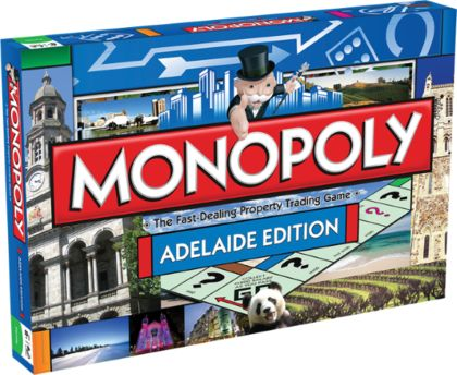 MONOPOLY Adelaide Edition WHAT FUN!! A long time family favorite with local landmarks! Adelaide's past and present in this unique edition of the game. Begin your journey on North Terrace and immerse yourself in the Art Gallery of South Australia, marvel at the Holy Trinity Church, the oldest in Adelaide, or visit the world-class SAHMRI. Step across the River Torrens and soak up the atmosphere of the historic Adelaide Oval.  #toys2learn #monoploy #adelaide