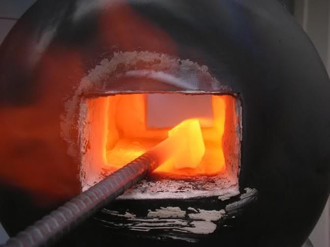 Fragua casera a Gas--Gas Forge