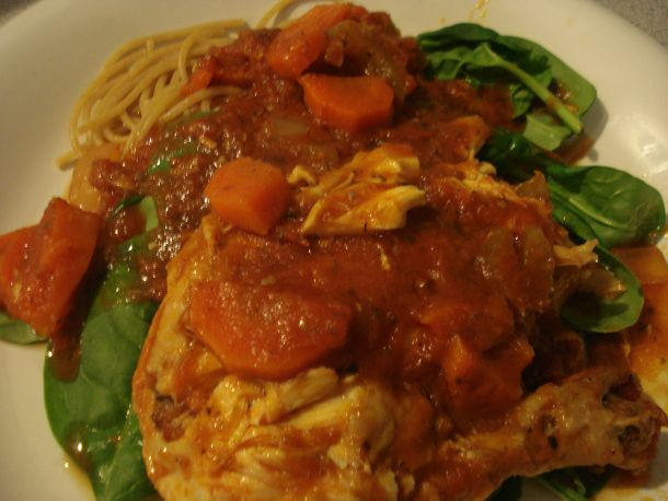 Chicken Cacciatore (Crock-Pot) | Skinny dinners | Pinterest