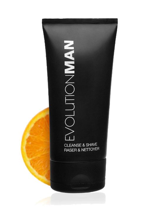 Cleanse And Shave byb Evolutin Man. Dual action time saver that can you use as shaving cream or face wash that cleanses the skin and softens the beard. Plant-derived exfoliators remove dull surface cells, antioxidant moisturizers deliver firmness and elasticity, Improve razor glide for comfort, improve razor glide for comfort. http://www.zocko.com/z/JFRQ7