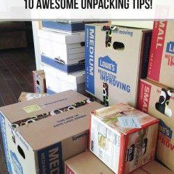 10 awesome unpacking tips on iheartnaptime.com