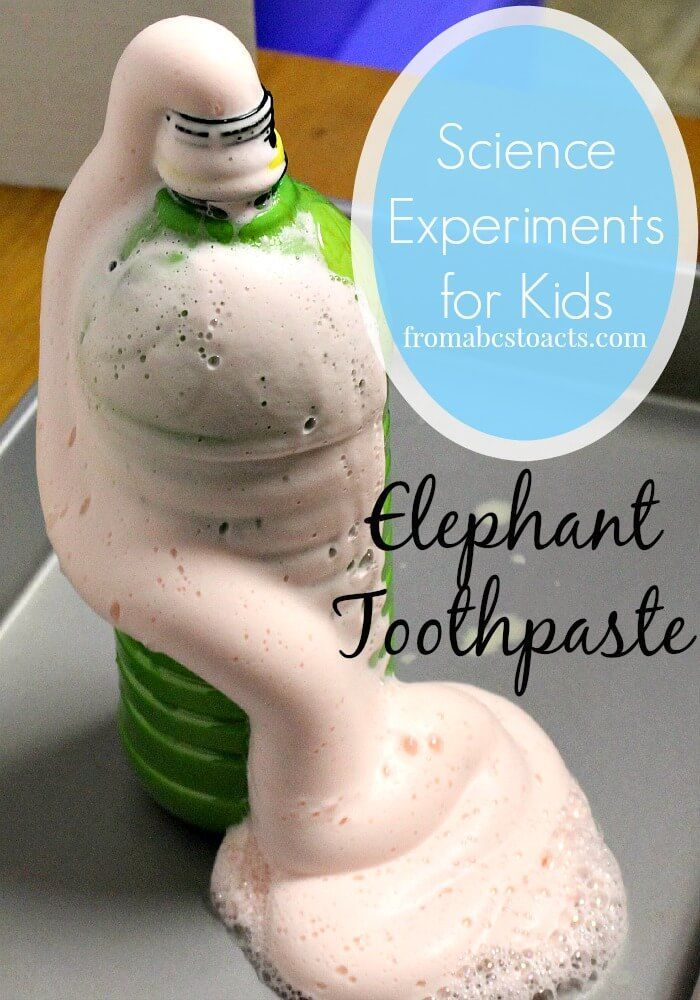 Elephant Toothpaste Experiment - From ABCs to ACTs