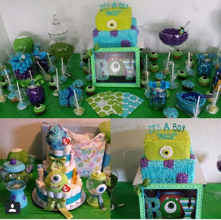 monsters inc baby shower baby shower ideas pinterest