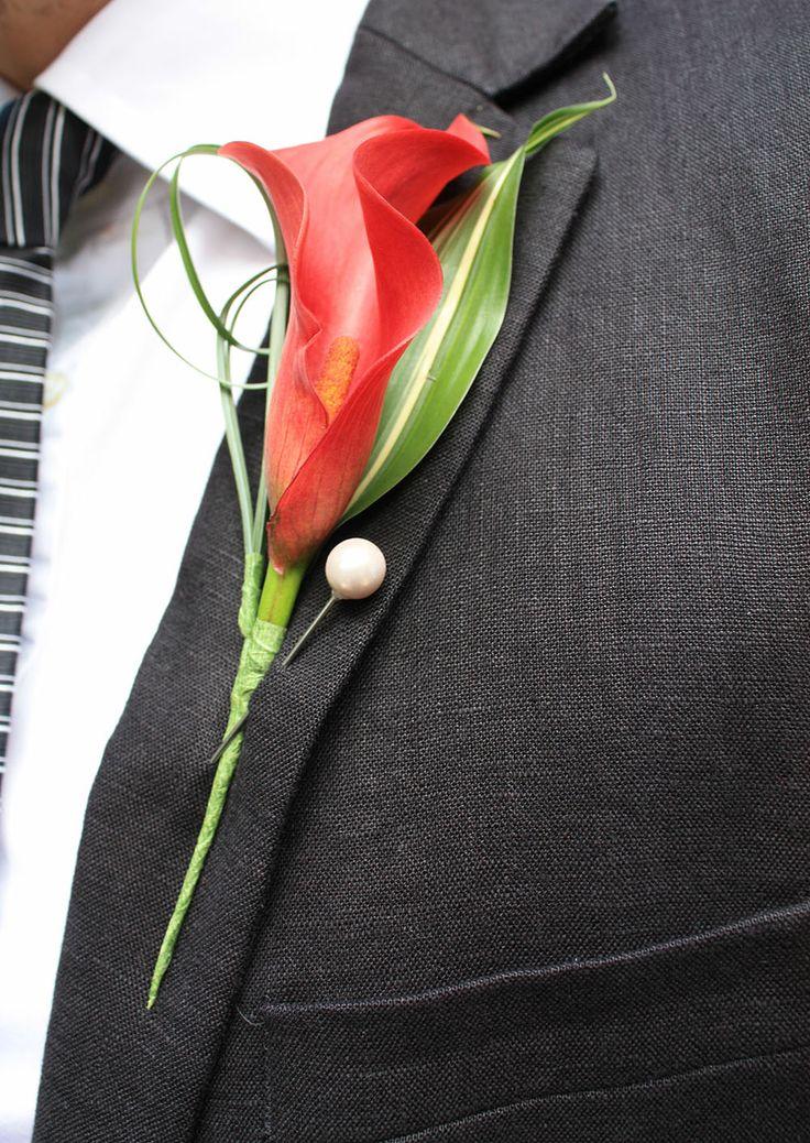 Calla lilly buttonhole