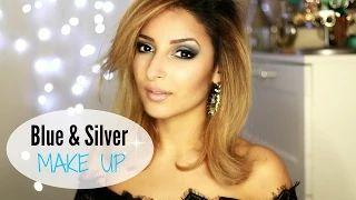 sananas2106 - YouTube silver blue makeup