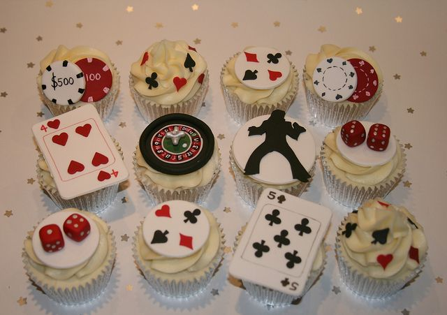Las Vegas Themed Cupcakes by The Clever Little Cupcake Company (Amanda), via Flickr