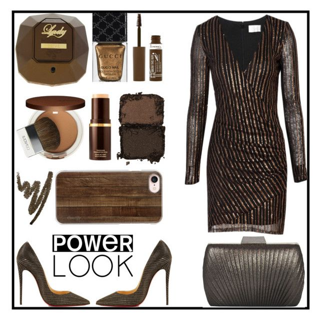 """""""#power look#girl power"""" by gagi273 ❤ liked on Polyvore featuring beauty, The Jetset Diaries, Christian Louboutin, Sasha, Casetify, Paco Rabanne, Gucci, Tom Ford, Clinique and NARS Cosmetics"""