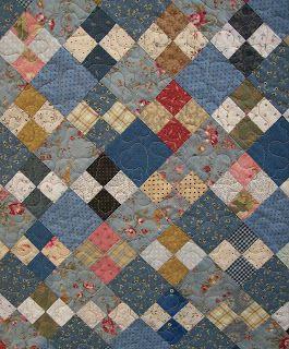 simple 4 patch quilt--use up scraps