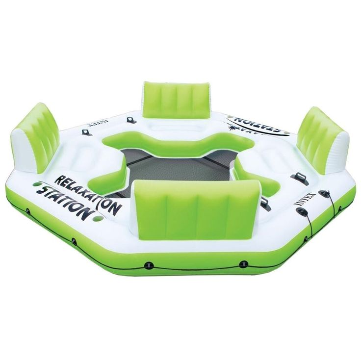 Floating Island Oasis Pool Floats And Rafts Relaxation Station Inflatable Intex #Intex  Affiliate link