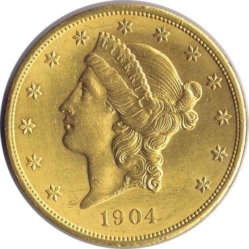 Moneda De Oro 20 Dolares Estados Unidos 1904 Monedas De Oro Onzas De Oro Pinterest